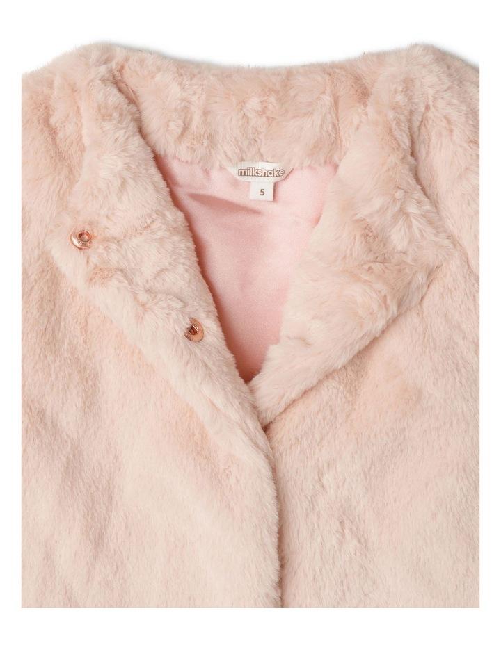 Collarless Fur Jacket image 2
