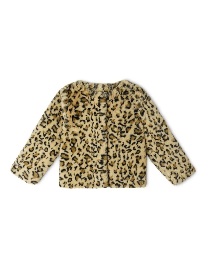 Collarless Fur Jacket image 1
