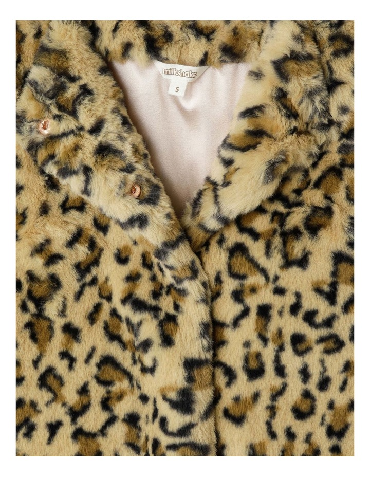 Collarless Fur Jacket image 2