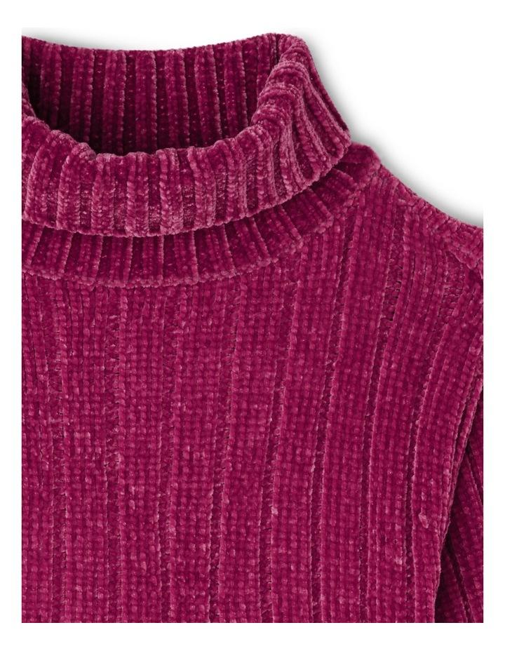 Roll Neck  Drop Shoulder Chenille Jumper image 2