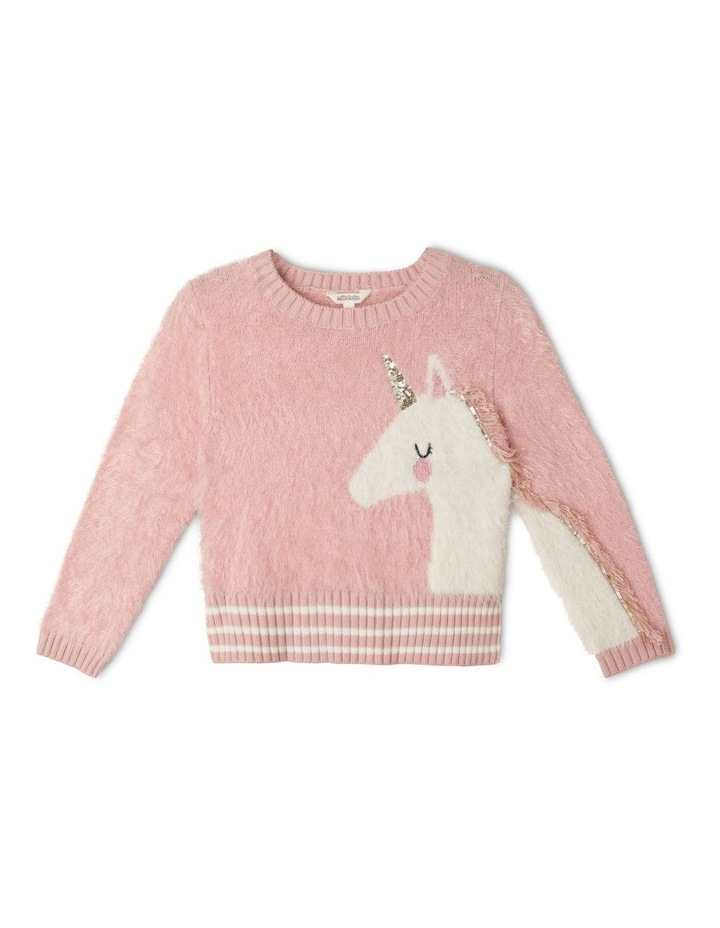 Eyelash Knit Instarsia Sweater image 1