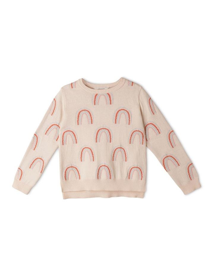 Intarsia Metallic Knit Sweater image 1