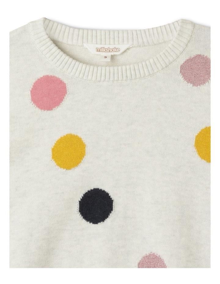 Metallic Intarsia Knit Sweater image 2