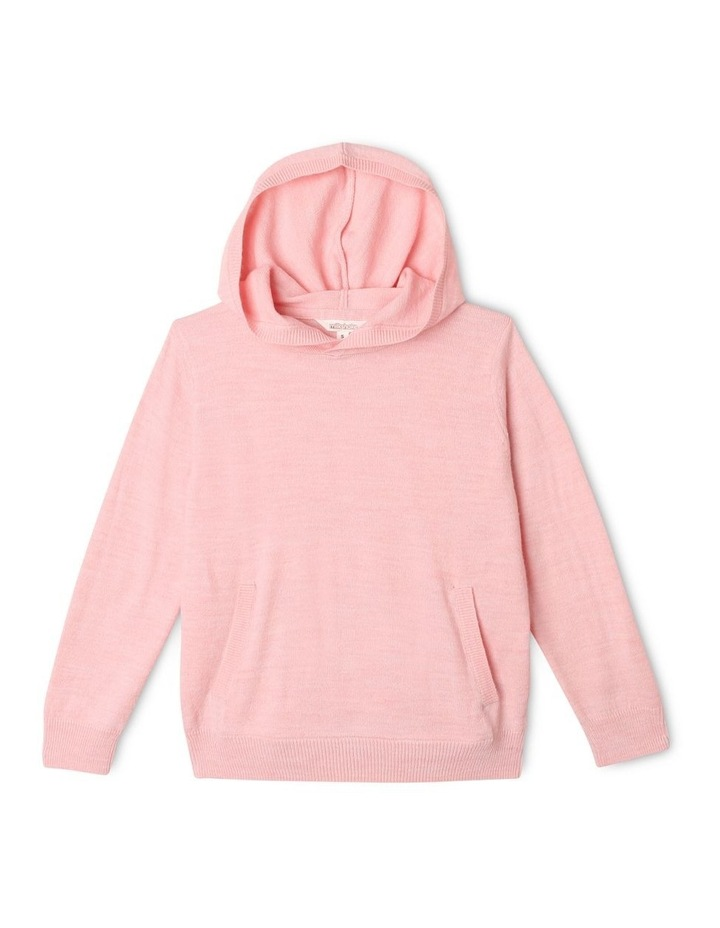 Knit Hooded Sweater image 1