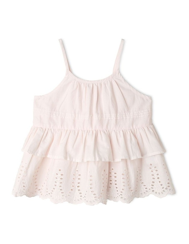 Woven Strappy Peplum Top image 1