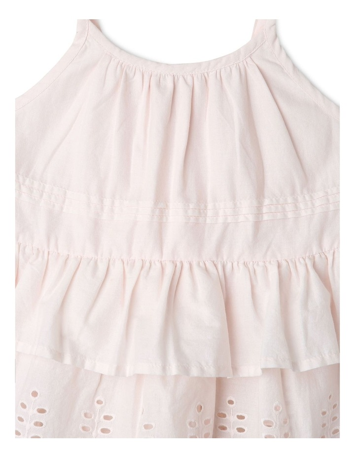 Woven Strappy Peplum Top image 2