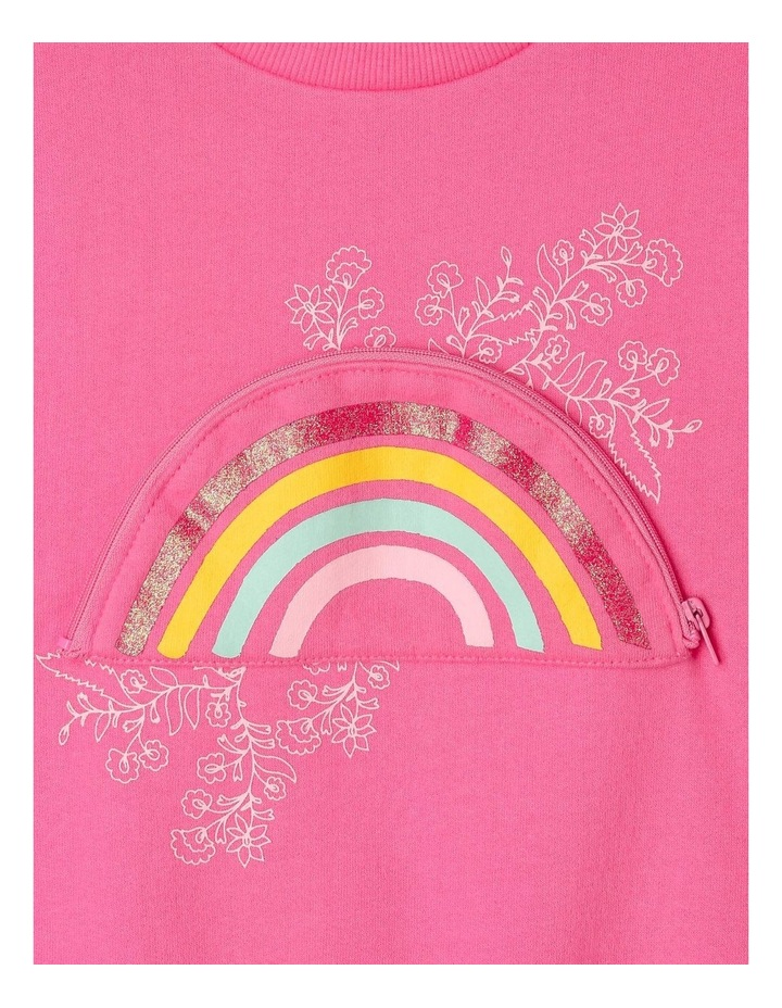 Sweat-Top with Rainbow Printed Pocket image 2
