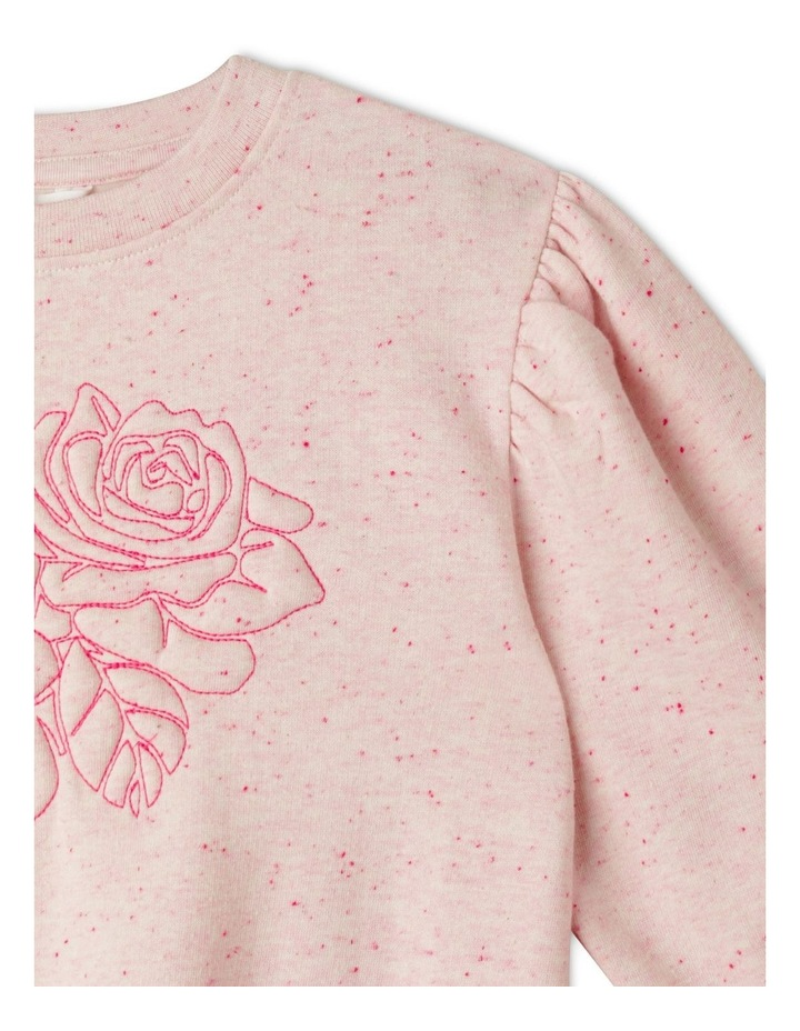 Puff Sleeve Crew Sweater image 3