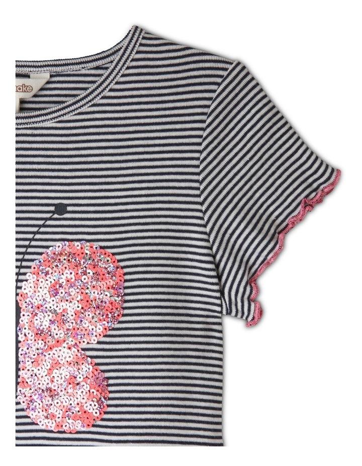 Knit Short Sleeve Ribbed Tee image 3