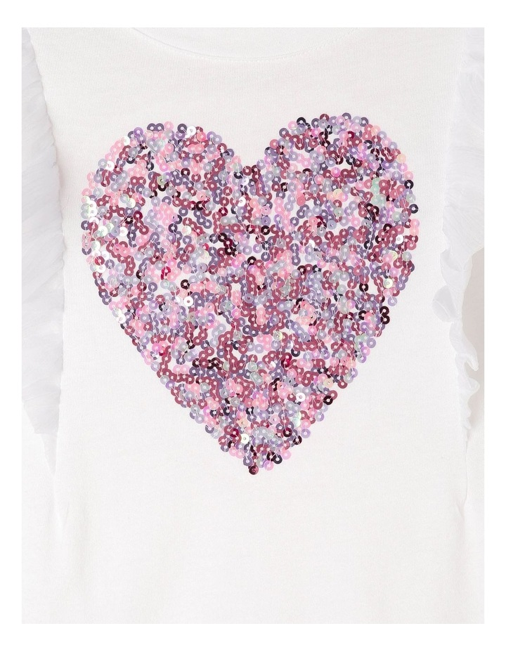 Chiffon Knit Tee with Sequin Heart image 3