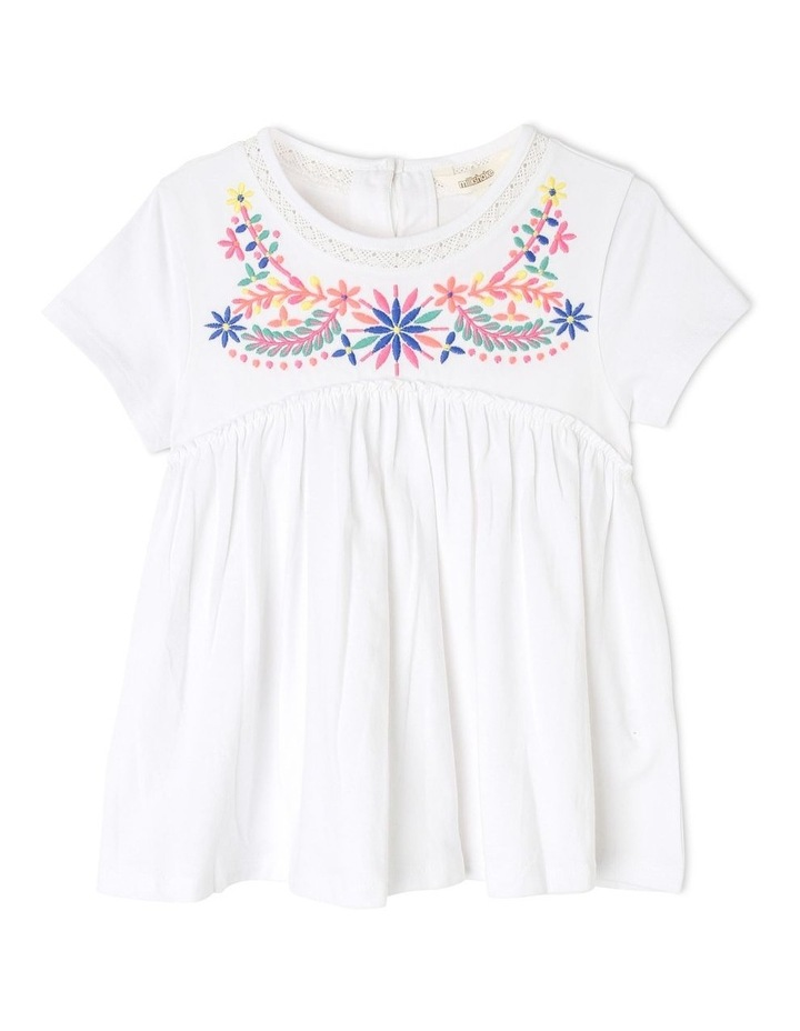 Embroidered Knit Swing Top image 1
