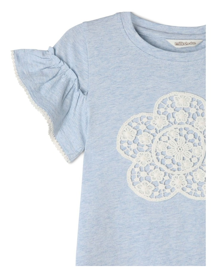 Knit Tee with Crochet Daisy Flower image 2