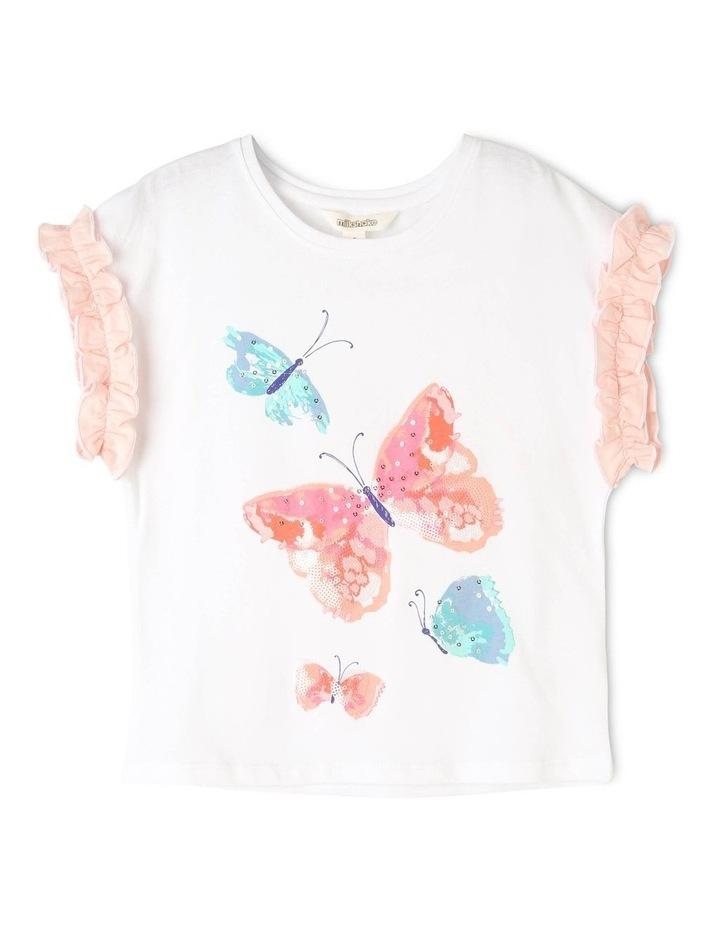 Knit Ruffle Sleeve Butterfly Tee image 1