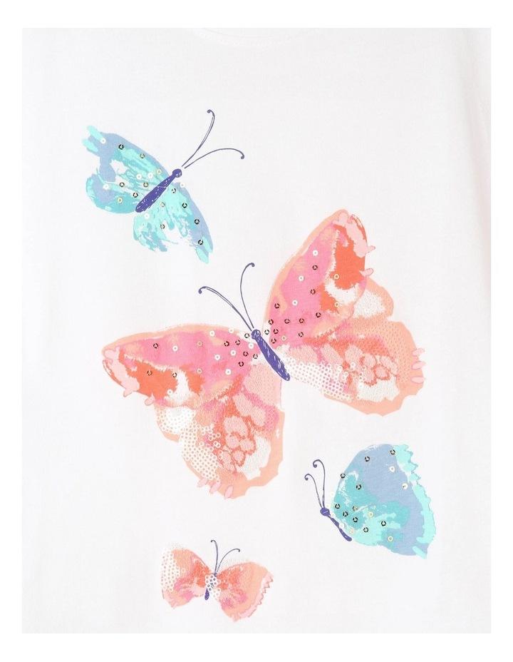 Knit Ruffle Sleeve Butterfly Tee image 3