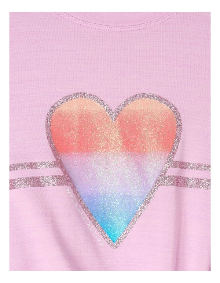 Active Tee With Heart Applique image 2