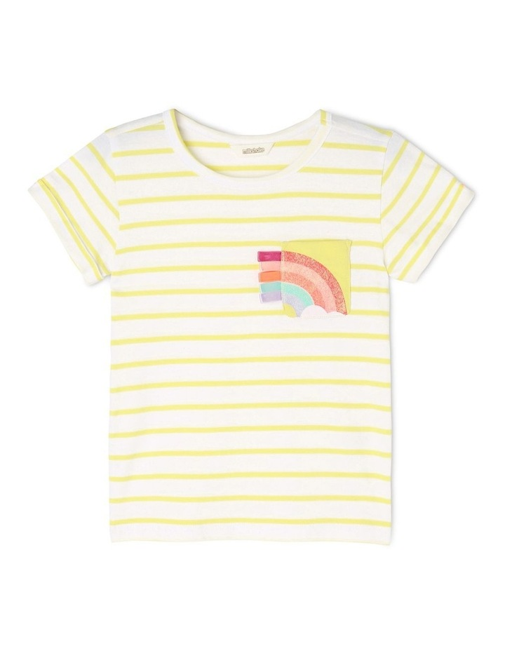 Knit Stripe Tee With Pocket image 1