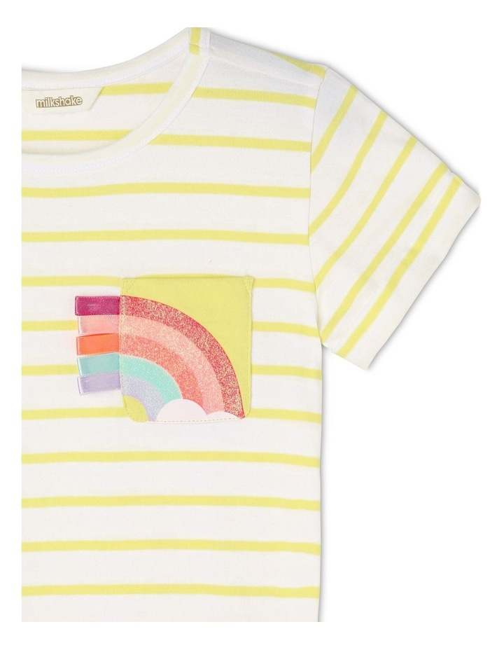 Knit Stripe Tee With Pocket image 2