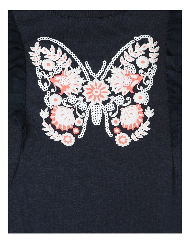 Chiffon Sleeve T-Shirt with Butterfly Detail image 3