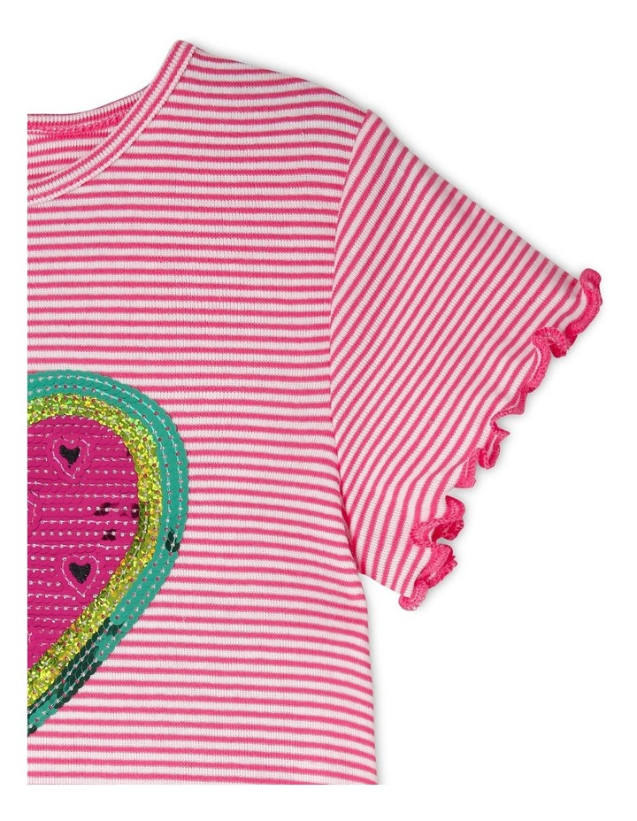 Knit Short Sleeve Ribbed Tee image 2