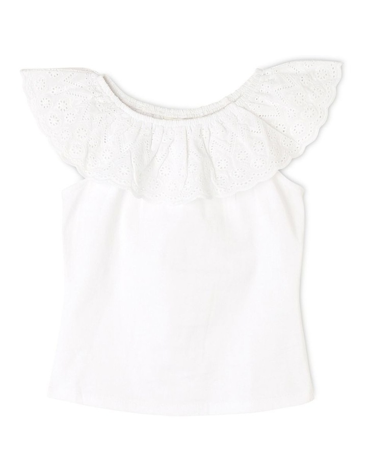 Knit Broderie Frill Neck Tee (Ages 3-8) image 1