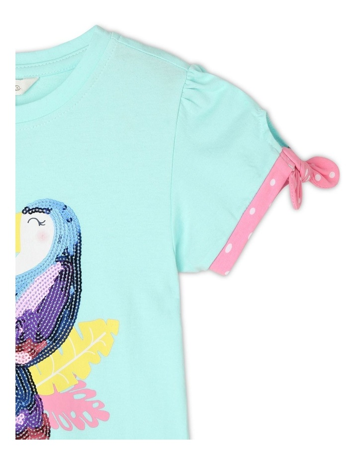 Knitted T-Shirt with Spotted Cuffs - Toucan image 2