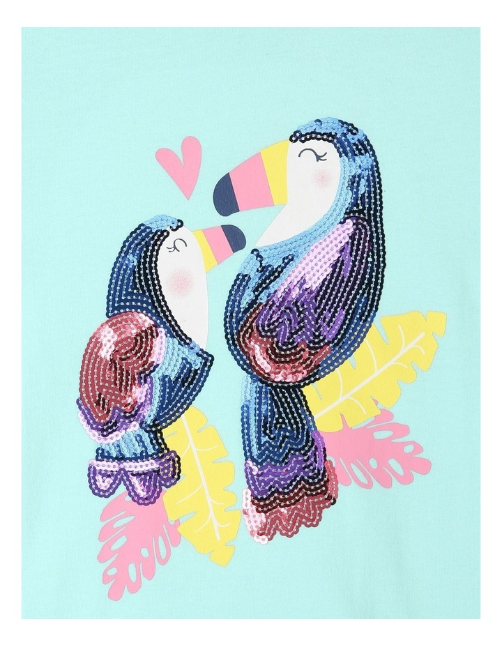 Knitted T-Shirt with Spotted Cuffs - Toucan image 3