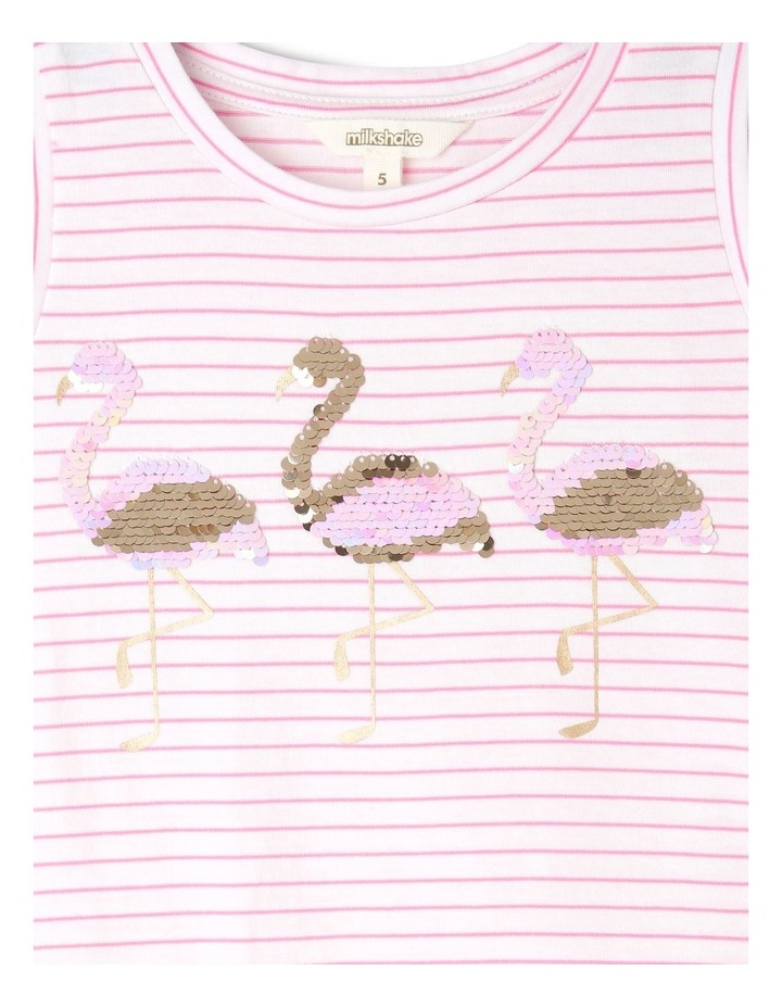 Sleeveless Knit Top with Sequin Detail - Flamingo image 2