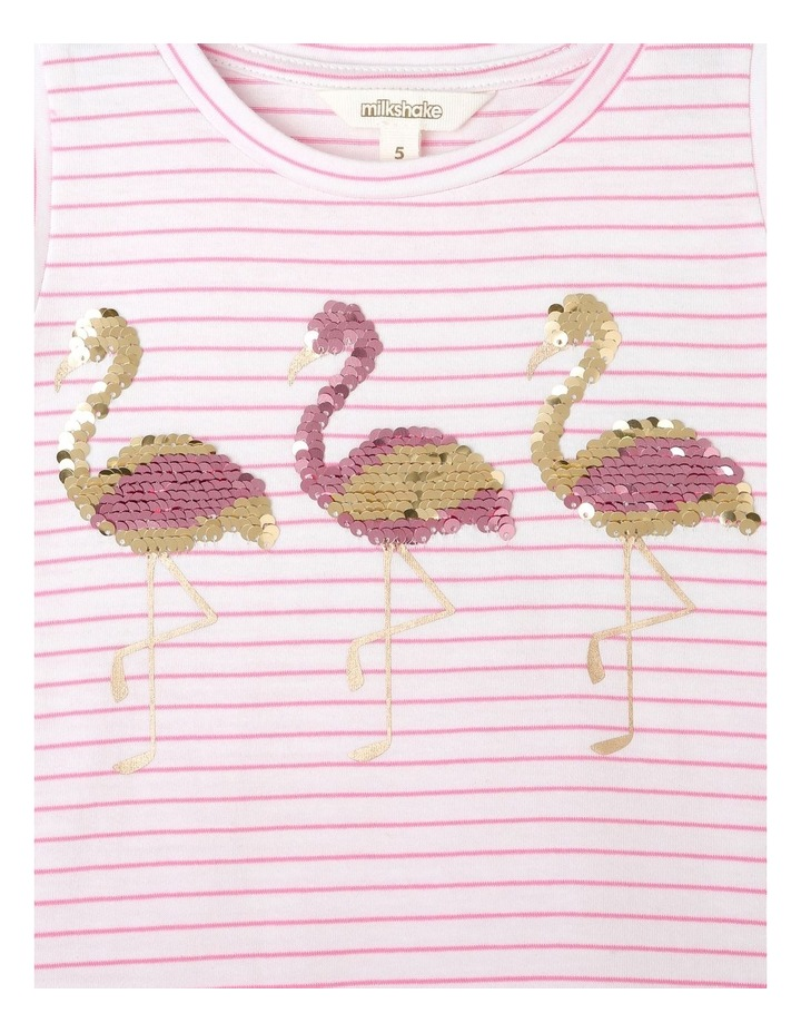Sleeveless Knit Top with Sequin Detail - Flamingo image 3