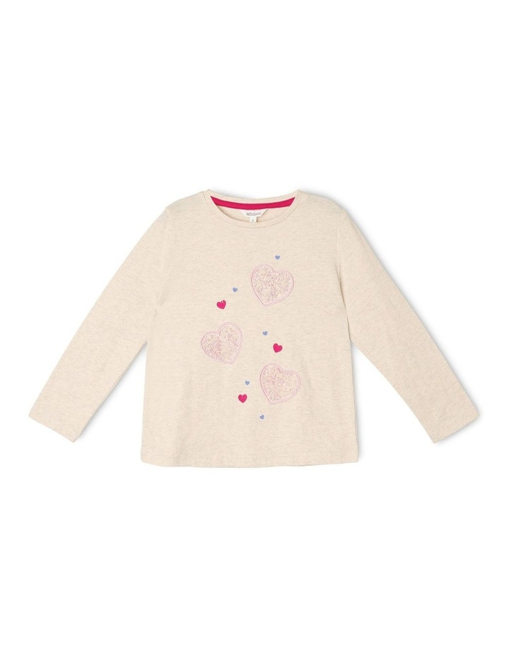 Knit Top with Heart Embellishment image 1
