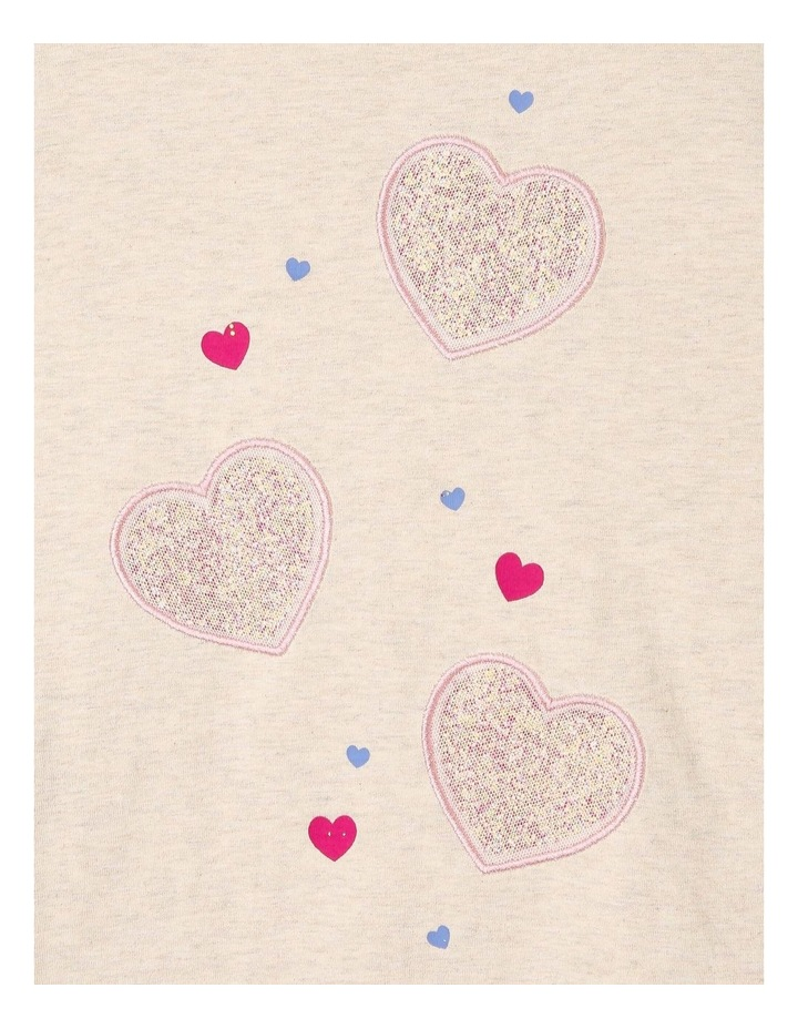 Knit Top with Heart Embellishment image 2