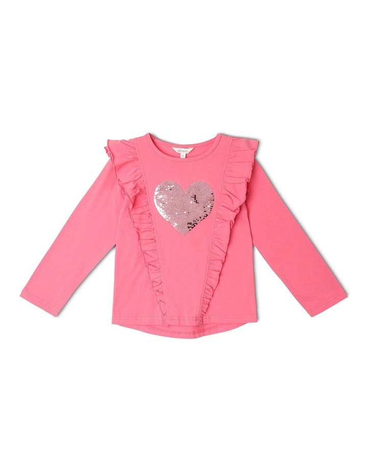 Frill Top with Sequin Heart image 1