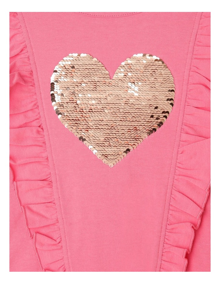 Frill Top with Sequin Heart image 3