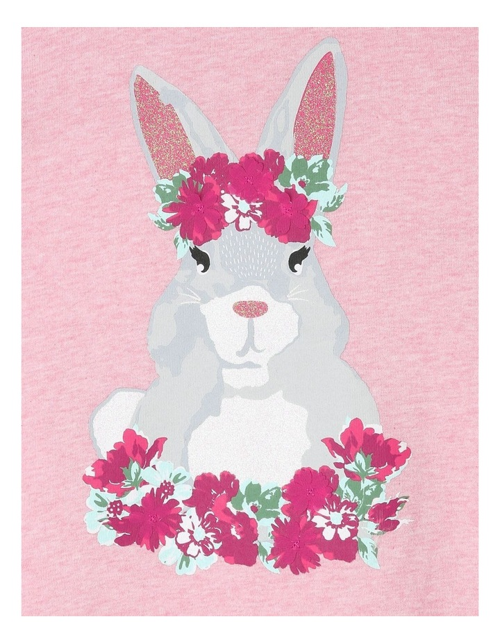 Knit Swing Top with Bunny Print image 2