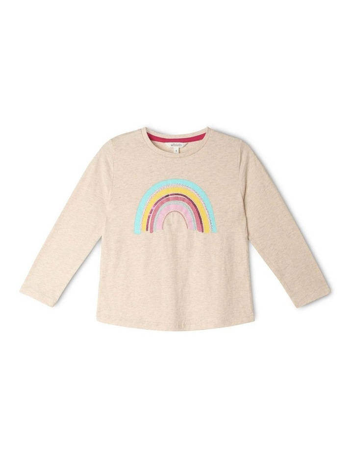 Knit Top With Rainbow Applique image 1
