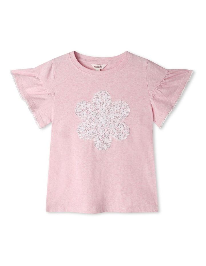 Crochet Applique T-Shirt image 1