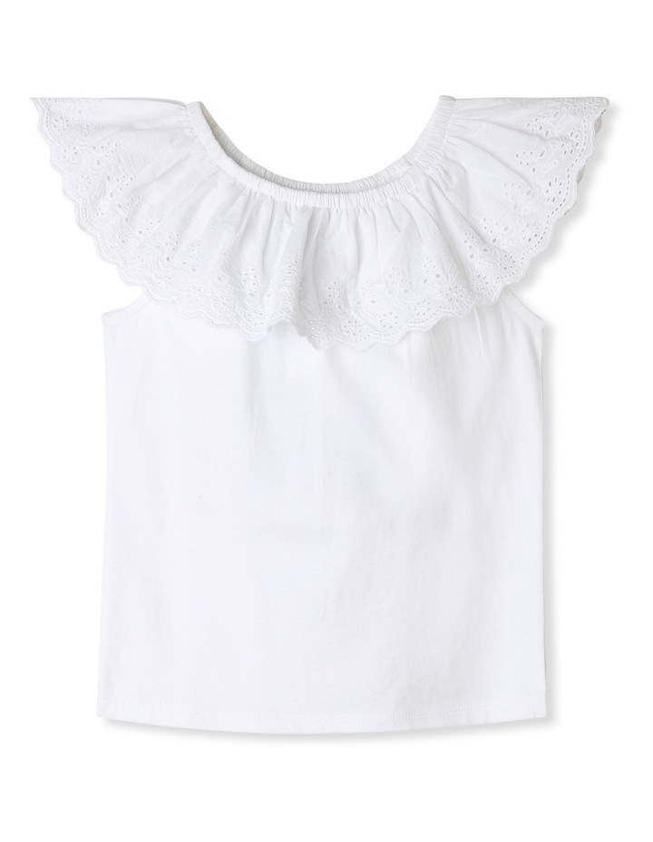 Broderie Ruffle Top image 1
