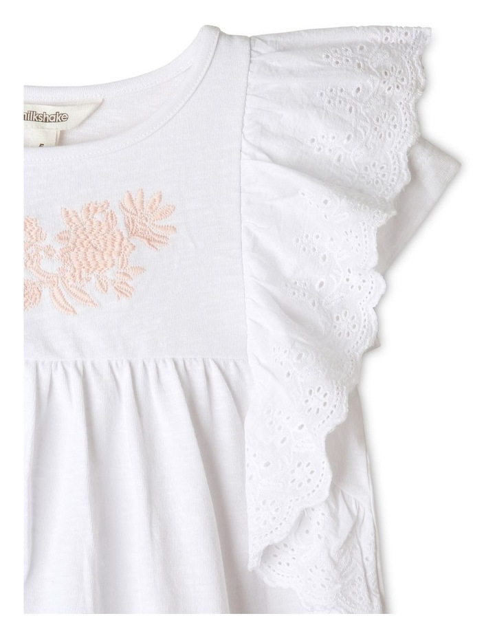 Broderie Knit Top with Frill Trim image 2