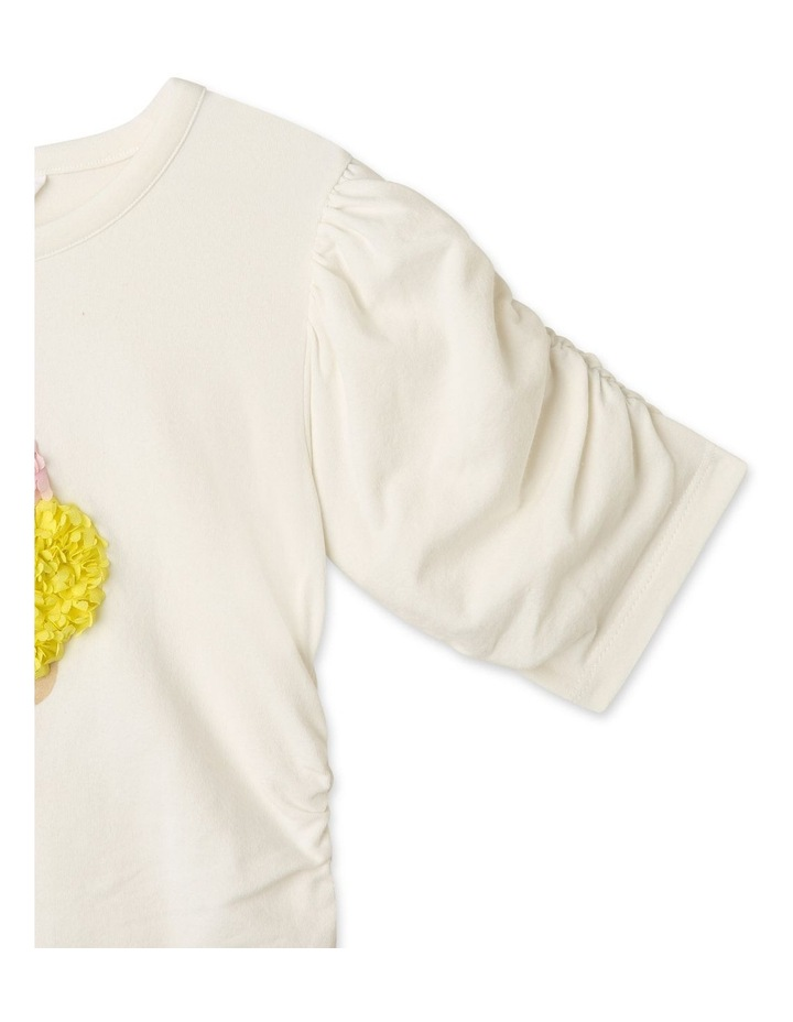 Knit Ruched Sleeve T-Shirt image 3