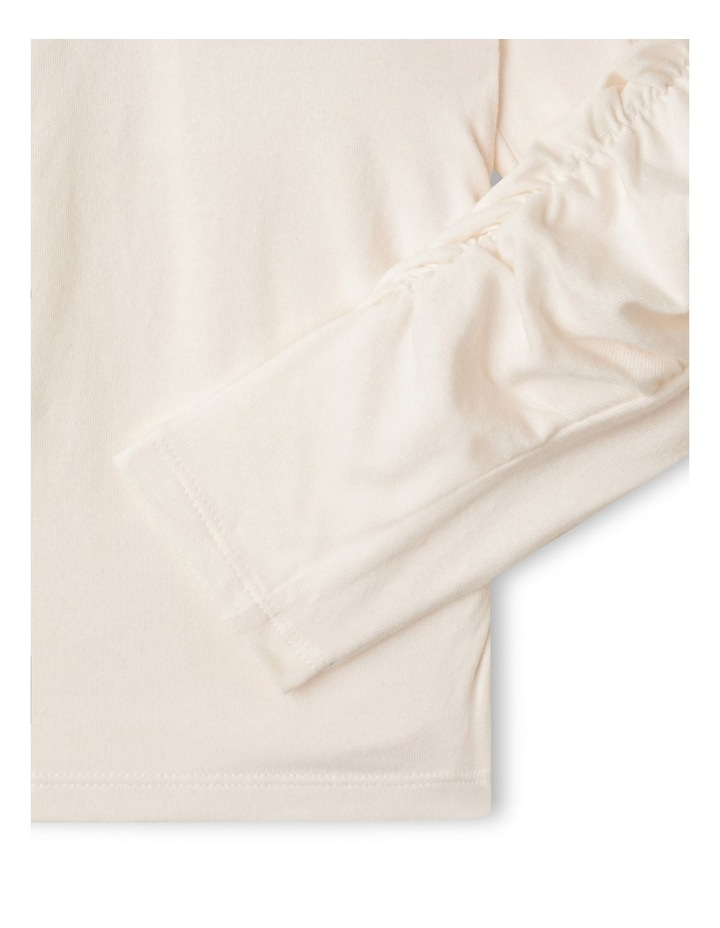 Ruched Long Sleeve Top with 3D Placement image 4