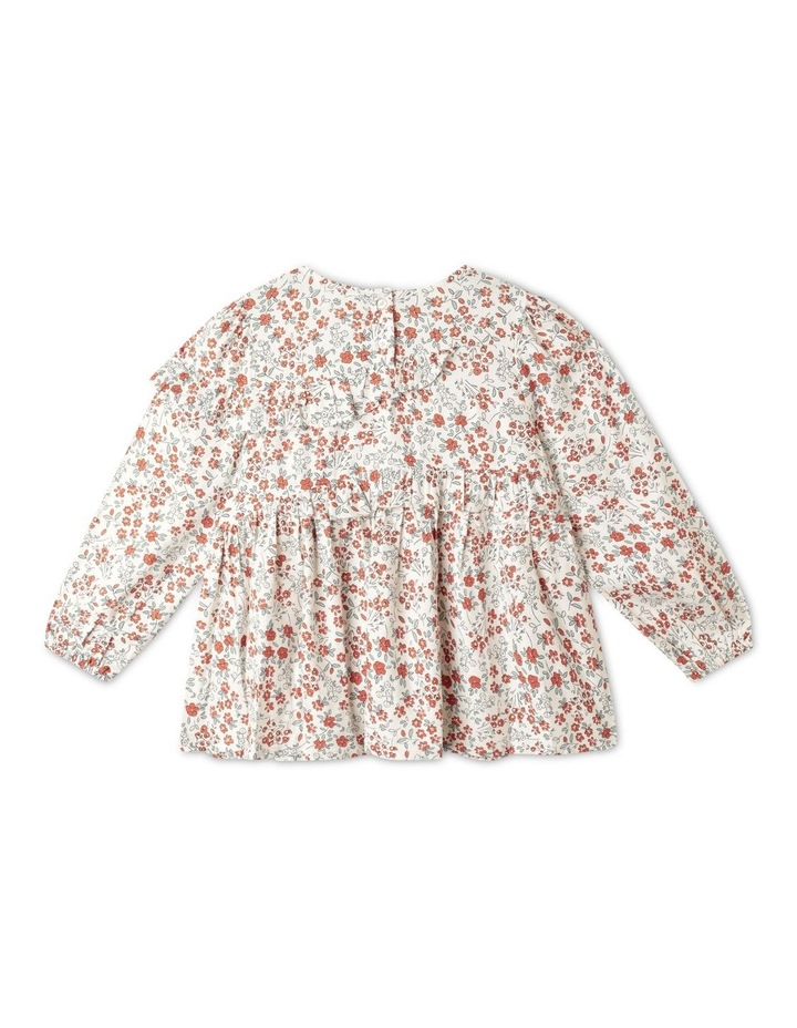 Twill Long Sleeve Top With Ruffle image 4