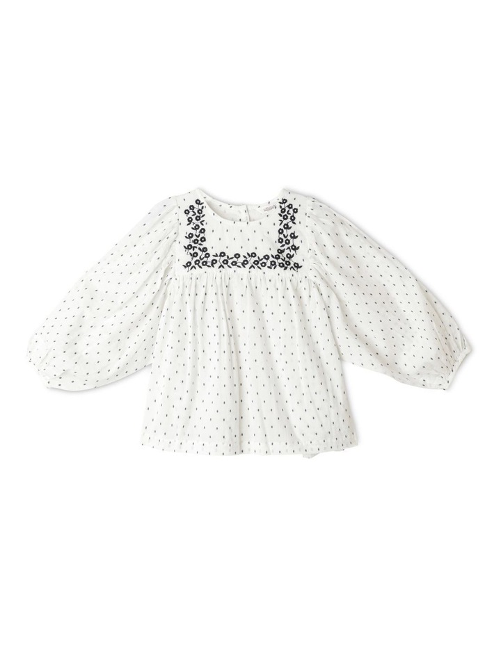 Double Cloth Balloon Sleeve Peasant Blouse image 1