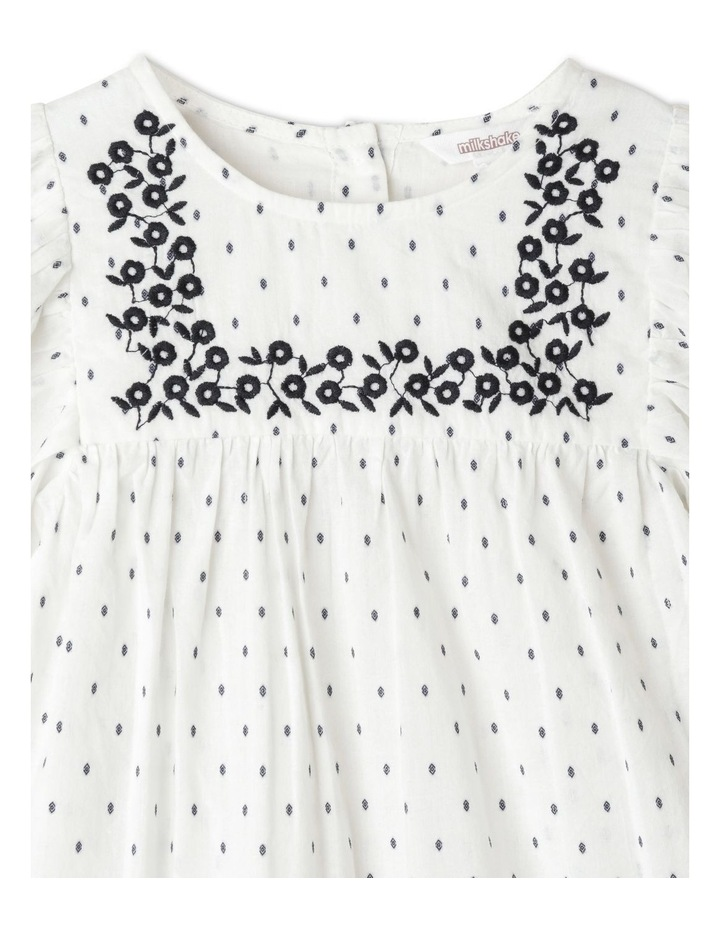 Double Cloth Balloon Sleeve Peasant Blouse image 2