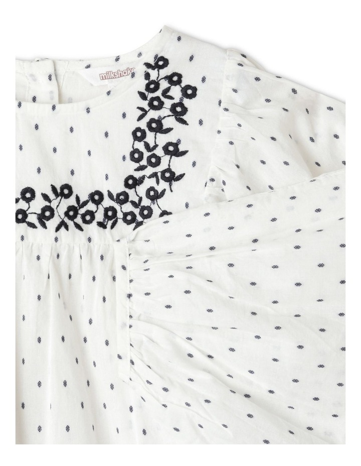 Double Cloth Balloon Sleeve Peasant Blouse image 3