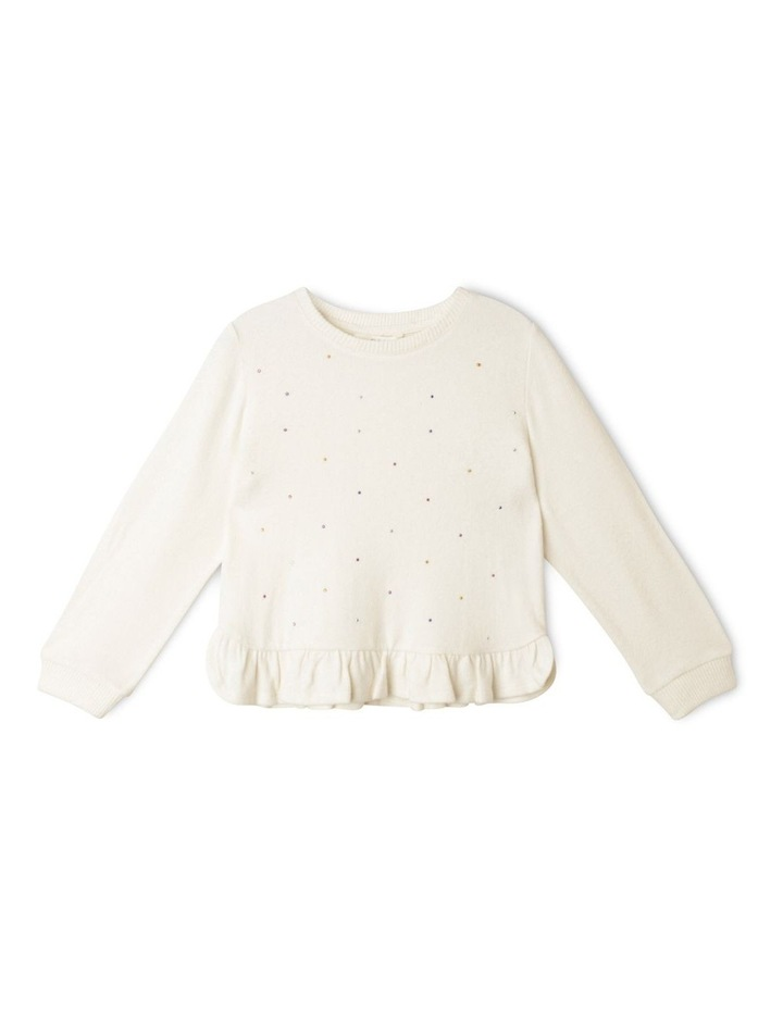 Knit Top with Ruffle Hem image 1