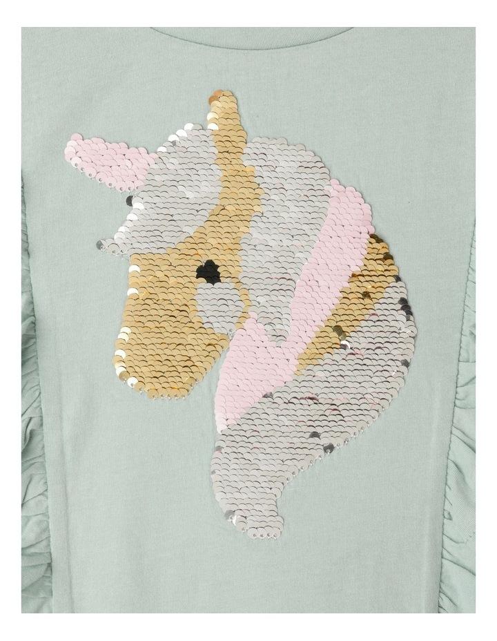 Unicorn Flip Sequin Shoulder Frill Top image 3