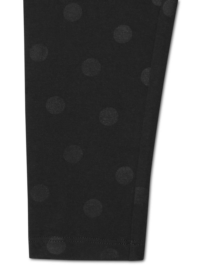 Essentials Metallic Foil Legging Black image 3