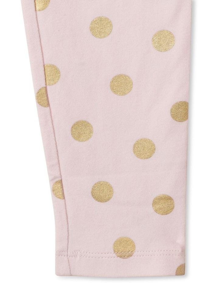 Essentials Metallic Foil Legging Light Pink image 3