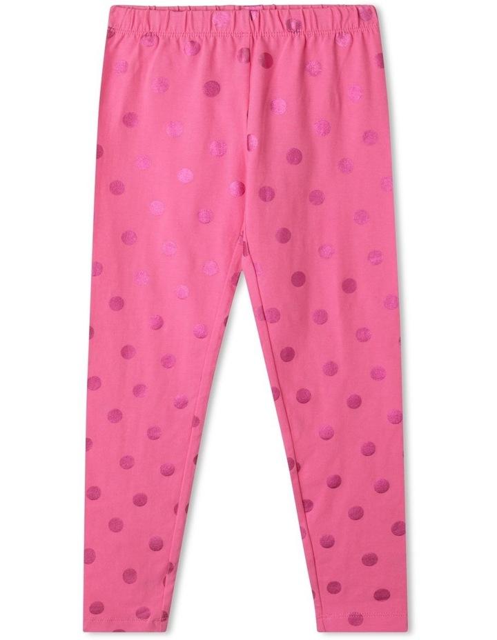 Essentials Metallic Foil Legging Pink image 1