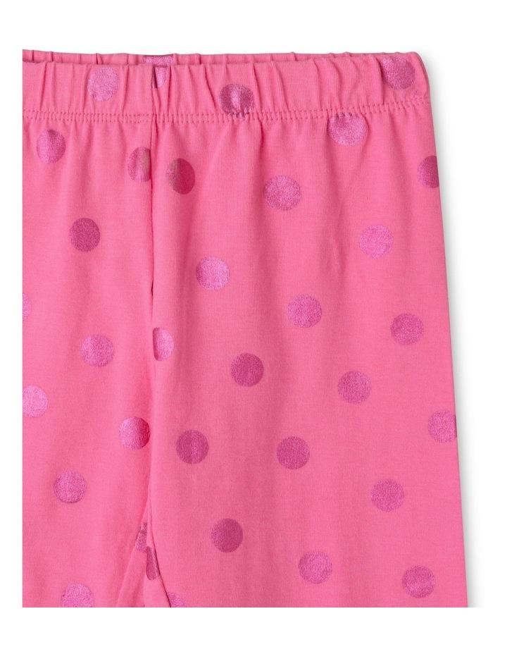 Essentials Metallic Foil Legging Pink image 2