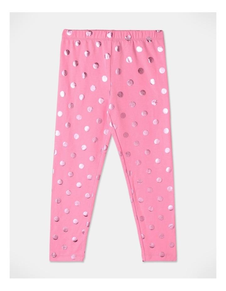 Essentials Metallic Legging Pink image 1